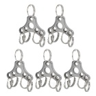 Expanding Stainless Steel 5-Ring Keyring for Mountaineering / Cycling / Camping