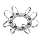 FURA Multifunctinal Steel Eight-Key Rings for Cycling, Travel - Silver