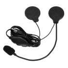 Motorcycle Helmet 3.5mm Earphone Headset Headphone w/ Mic. for Phone / MP3 / Music Devices - Black