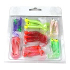 Bionics Maggot Fishing Lure Baits w/ Hook - Multi-Color (17PCS)