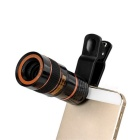 Universal 8X Mobile Phone Telescope w/ Clip - Black + Red