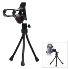 Convenient Rotatable Mini PC + ABS Flexible Tripod + Cellphone Holder - Black
