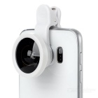 Universal 0.4x Wide-Angle Selfie Camera Lens w/ Acrylic Clip - White