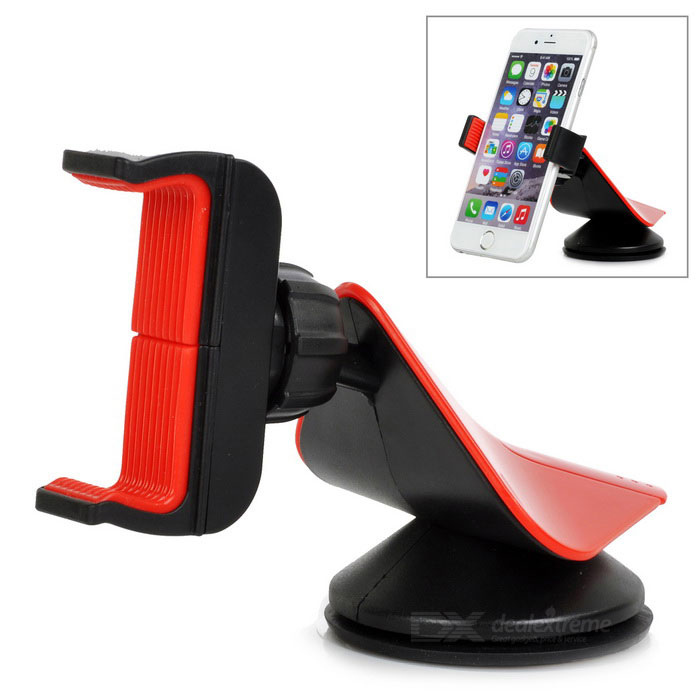 Universal 360' Rotation Car Mount for Cell Phones - Black + Red