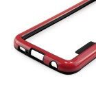 Durable Ultra-thin TPU Bumper Frame Case for Samsung S6 - Red + Black