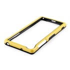 Durable Ultra-thin TPU Bumper Frame Case for Sony Z2 - Yellow + Black