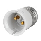 E27 to B22 Light Lamp Bulb Holder Adapter Converter - White + Silver (4pcs)