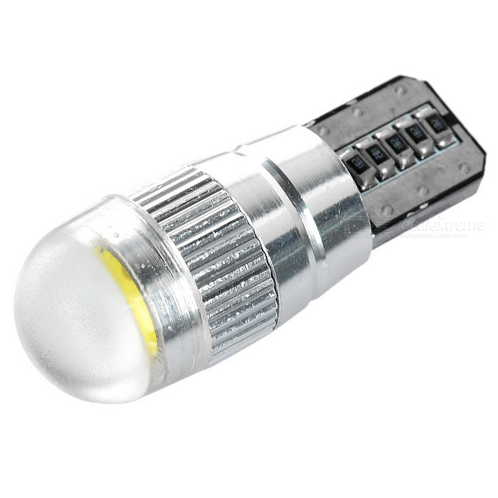 T10 1.2W COB LED Car Clearance Lamp Signal Light Cold White 38lm