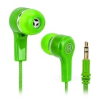 Fashion Beads Style Cable 3.5mm Plug In-Ear Earphone - Green + Orange