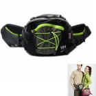 NatureHike Multi-functional Water-resistant Polyester Waist Bag for Hiking - Black + Grey (8L)