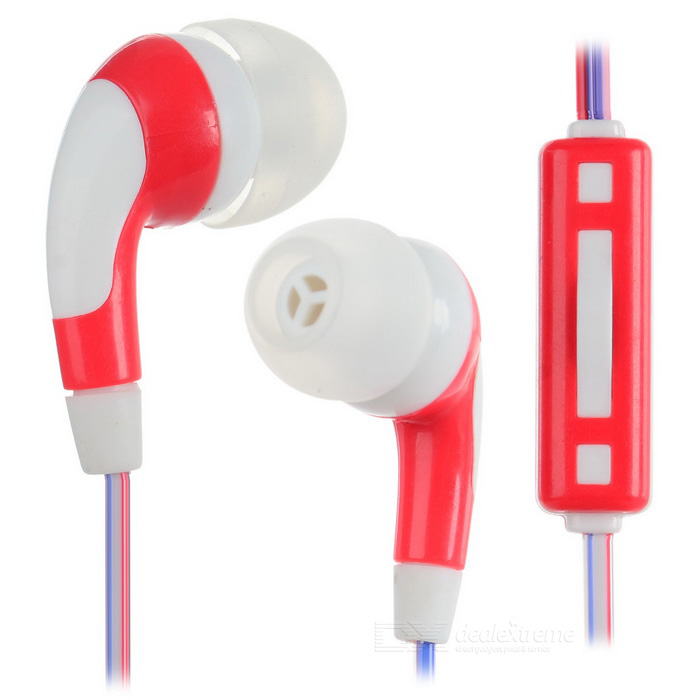 FashionUniversalIn-EarEarphonesw/Mic.-Red+Blue+Multicolor