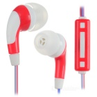 Fashion Universal In-Ear Earphones w/ Mic. - Red + Blue + Multicolor