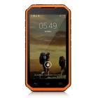 "Digoor DG2 Plus Waterproof 5"" IPS Android 4.4 Quad-Core 3G Rugged Phone w/ 8GB ROM, Wi-Fi - Orange"