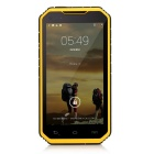 "Digoor DG2 Plus Waterproof 5"" IPS Android 4.4 Quad-Core 3G Rugged Phone w/ 8GB ROM, Wi-Fi - Yellow"
