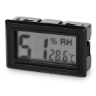 "1.5"" LCD Car Thermometer Hygrometer Humidity Temperature Tester -Black"