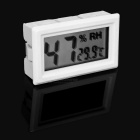 "1.6"" LCD Car Thermometer Hygrometer Humidity Temperature Tester -White"