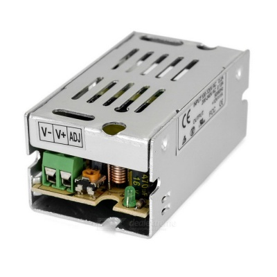 12V 1A 12W Switching Power Supply for LED Light Strip - Silver