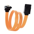 SATA 2.0 Straight to Bent Serial Port HDD / Drive Cable w/ Clip - Orange (38cm)