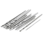 0.3~1.6mm High Speed Steel Drill Bit Set - Black + Silver (20PCS)