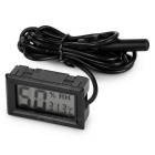 "1.5"" Mini Digital LCD Car Thermometer Hygrometer Humidity Temperature Meter Tester w/ Probe Sensor"