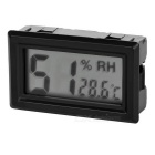 "1.5"" LCD Car Humidity Temperature Meter Tester w/ Probe Sensor - Black"