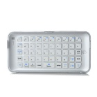 49-Key Bluetooth V3.0 Wireless Push-Pull Ultrathin Keyboard for IPHONE 6 Plus - Silver + White