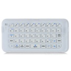49-Key Bluetooth V3.0 Wireless Push-Pull Ultrathin Keyboard for IPHONE 6 Plus - White