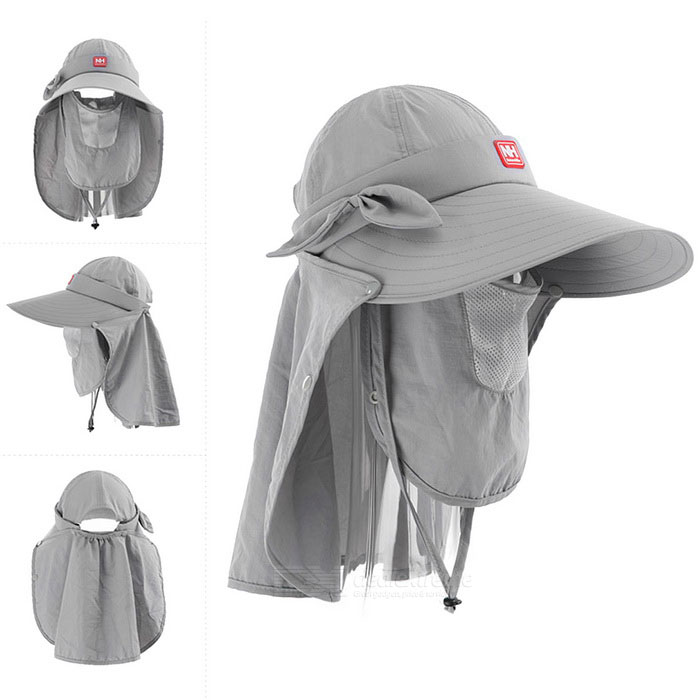 NatureHike Women's Face / Neck Protection Large Brim Hat - Light Grey