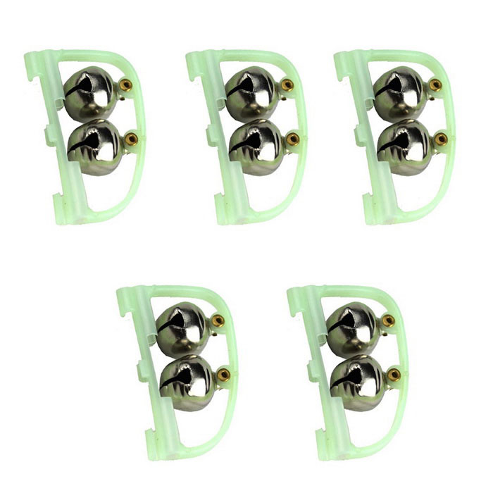 Luminous Fishing Accessories Bell Alarms - Grass Green + White (5PCS)Fishing Tools &amp; Accessories<br>Form ColorGrass Green + SilverQuantity1 DX.PCM.Model.AttributeModel.UnitMaterialPlastic + ironPowered ByPower FreeBattery included or notNoFishing Site River,Pool,Sea,Surf Fishing,Sea Boat Fishing,PondPacking List5 x Fishing bells<br>