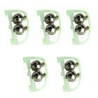 Luminous Fishing Accessories Bell Alarms - Grass Green + Silver (5 PCS)