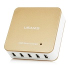 USAMS Portable 40W 8A High Speed 5-Port USB Fast Charger for Cellphone / Tablet PC (US Plug)