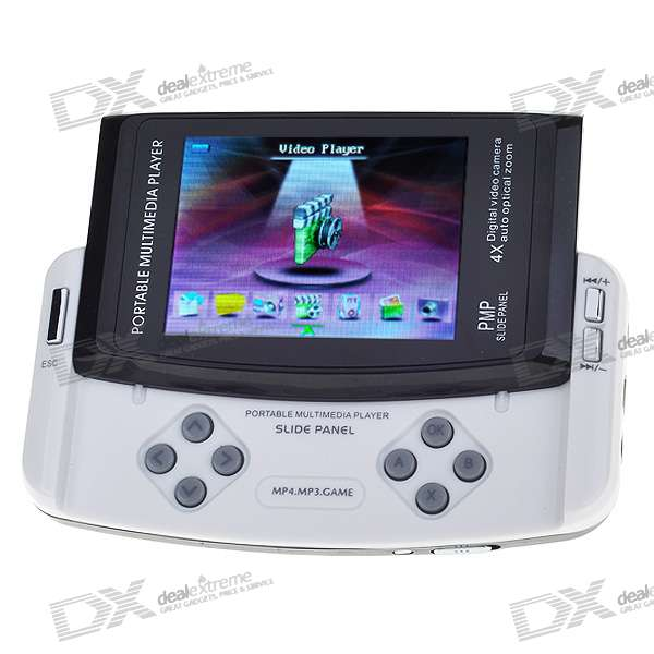 "3.0"" LCD Media Player/Game Console with 1.3MP Camera + FM Radio/SD Card Slot/TV Out (8GB)"