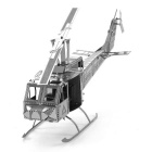 Creative 3D Laser Cute Models Metallic Huey Helicopter Nano Puzzle - Silver