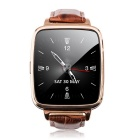 "M28 Wearable 1.54"" Touch Screen Smart Watch w/ Bluetooth / Pedometer-Brown"