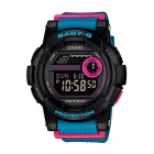 Genuine Casio BABY-G G-LIDE BGD-180-2ER Ladies' Surfing Digital Watch - Black Dial and Blue Band