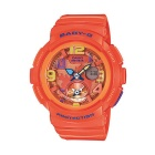 Genuine Casio Baby-G BGA-190-4BER Ladies' Dual Dial Analog-Digital Travel Watch - Orange