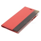Protective Flip Open PU Case for Huawei P8 - Red