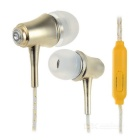 In-Ear Remote Earphones w/ Green Glow-in-the-Dark + Mic. for APPLE Series + More - White + Yellow