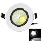 10W COB LED Ceiling Lamp White Light 339lm 6000K - White + Black (AC 85~265V)