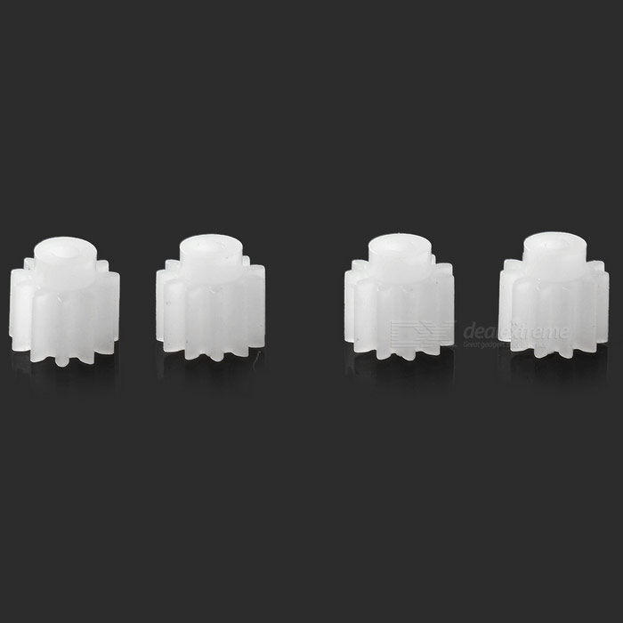 ABS Motor Accessory Gears for JJR/C H12C - White (4PCS)