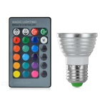 E27 3W LED Spotlights Bulbs RGB Light 80lm - White + Silver (3PCS)