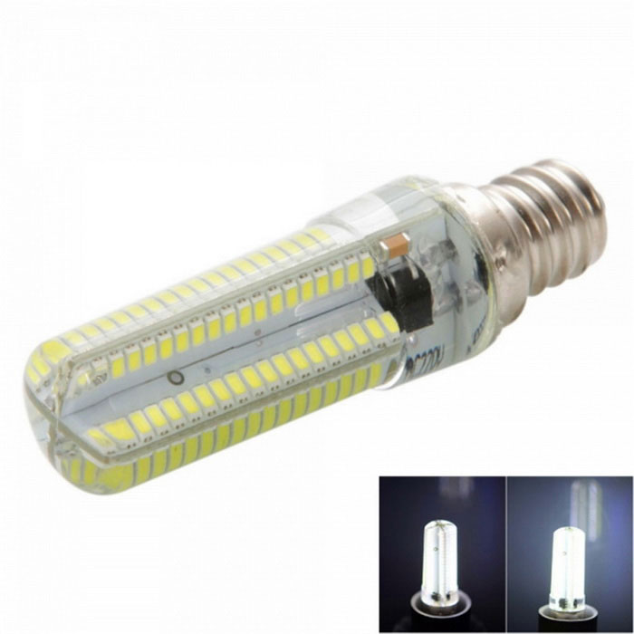 E12 7W Dimmable LED Corn Bulb Cold White 840lm 152-SMD (AC 220~240V)