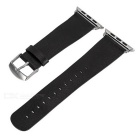Replacement Micro Fiber Watchband w/ Band Attachments for APPLE WATCH 42mm - Black