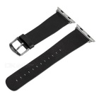 Micro Fiber Watchband w/ Band Attachments for APPLE WATCH 42mm - Black