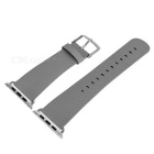 Replacement Micro Fiber Watchband w/ Band Attachments for APPLE WATCH 42mm - Grey