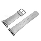 Replacement Micro Fiber Watchband w/ Band Attachments for APPLE WATCH 42mm - Silver