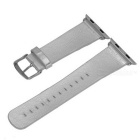 Micro Fiber Watchband w/ Band Attachment for APPLE WATCH 42mm - Silver