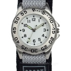 Fashionable Canvas Wristband Analog Quartz Sports Watch - Grey + Silver (1 x SR626SW)