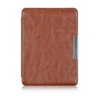 "EPGATE Protective PU Leather Flip-Open Case Cover for 6"" KOBO GLO HD E-Book - Brown"