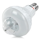Exled E27 6W 12-LED 300lm RGB luz de color rotatorio de la etapa - blanco